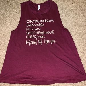 Maid Of Honor Work Out Tank